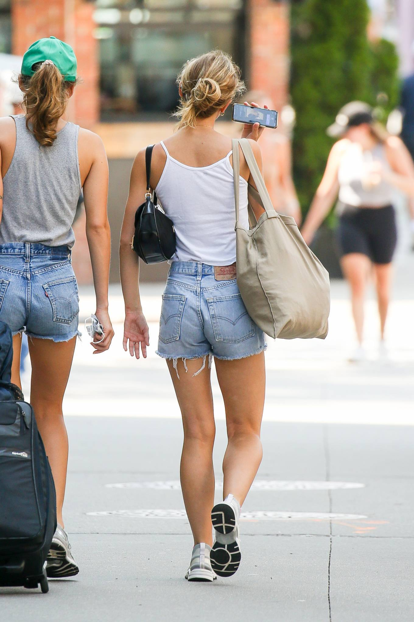 Lily-Rose Depp - Walks with a friend in New York