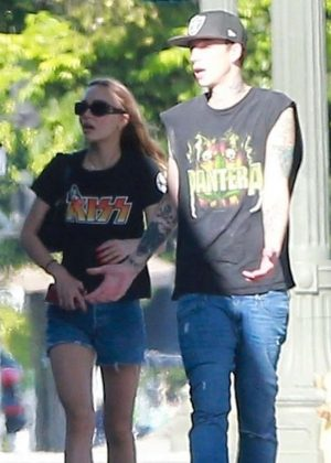 Lily Rose Depp with boyfriend out in Los Angeles