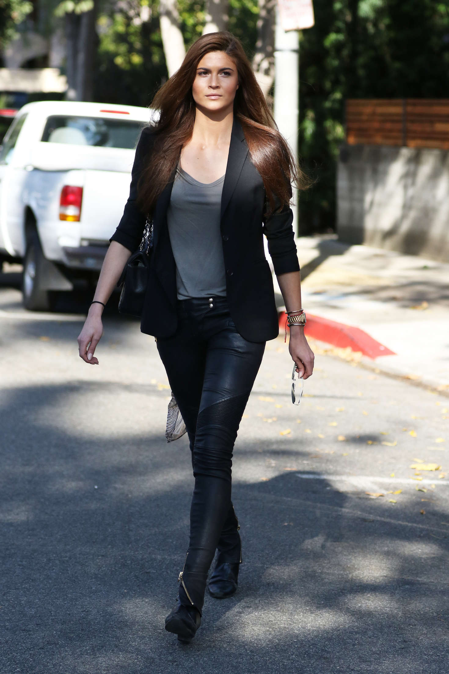 Dutch Square Mall >> Lina Sandberg in Leather at Urth Caffe in West Hollywood ...
