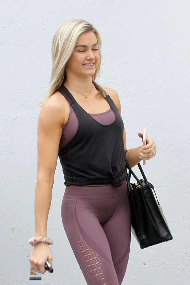 Lindsay Arnold at 'Dancing With The Stars' dance studio in Hollywood