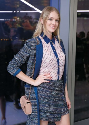 Lindsay Ellingson - CFDA x Vogue Fashion Fund Design Challenge in NYC