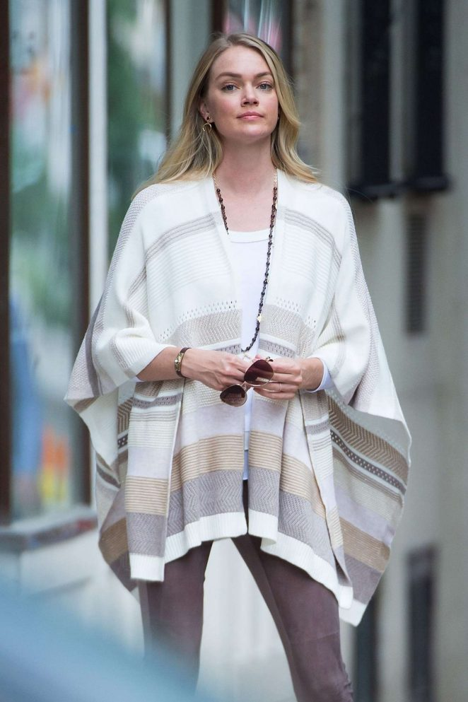 Lindsay Ellingson on a Photoshoot in the West Village