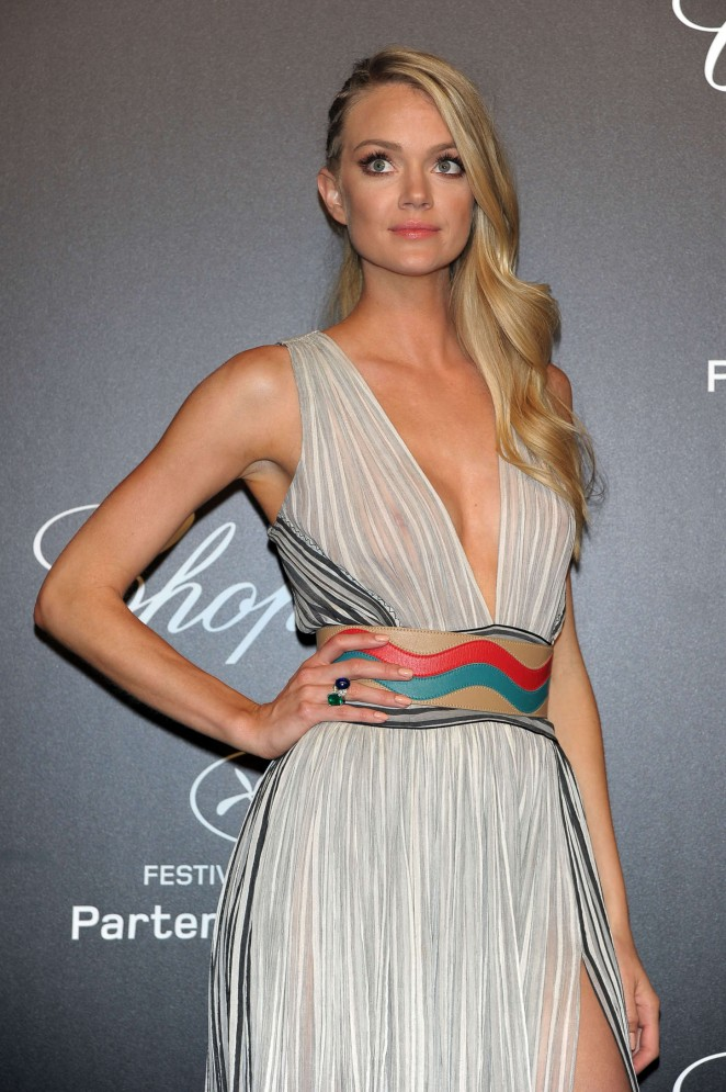Lindsay Ellingson – Soiree Chopard 'Gold Party' at 2015 Cannes Film Festival in Cannes