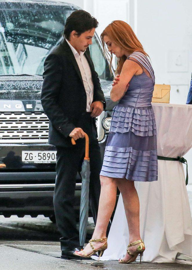Lindsay Lohan and boyfriend Egor Tarabasov out in Zurich