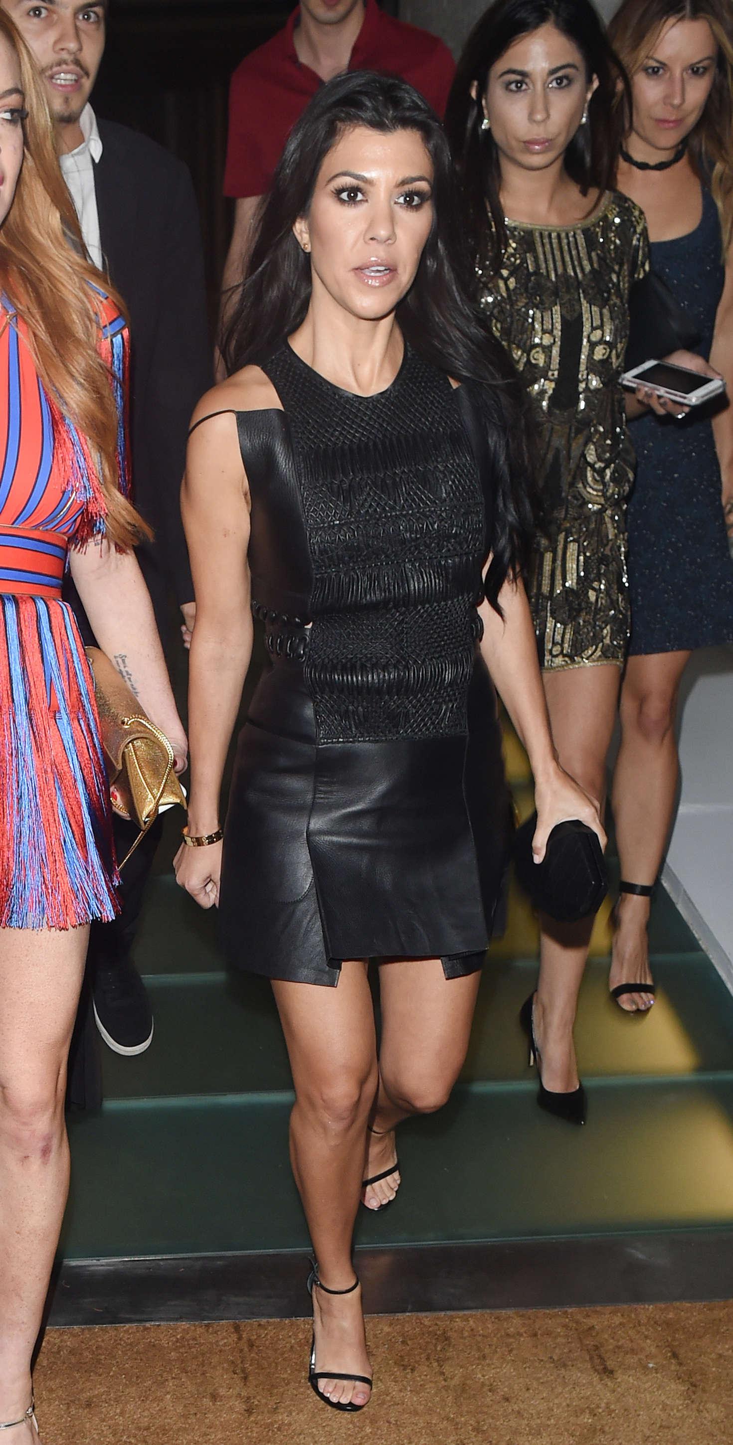 Lindsay Lohan 2016 : Lindsay Lohan and Kourtney Kardashian: Leaving Ours Restaurant -07