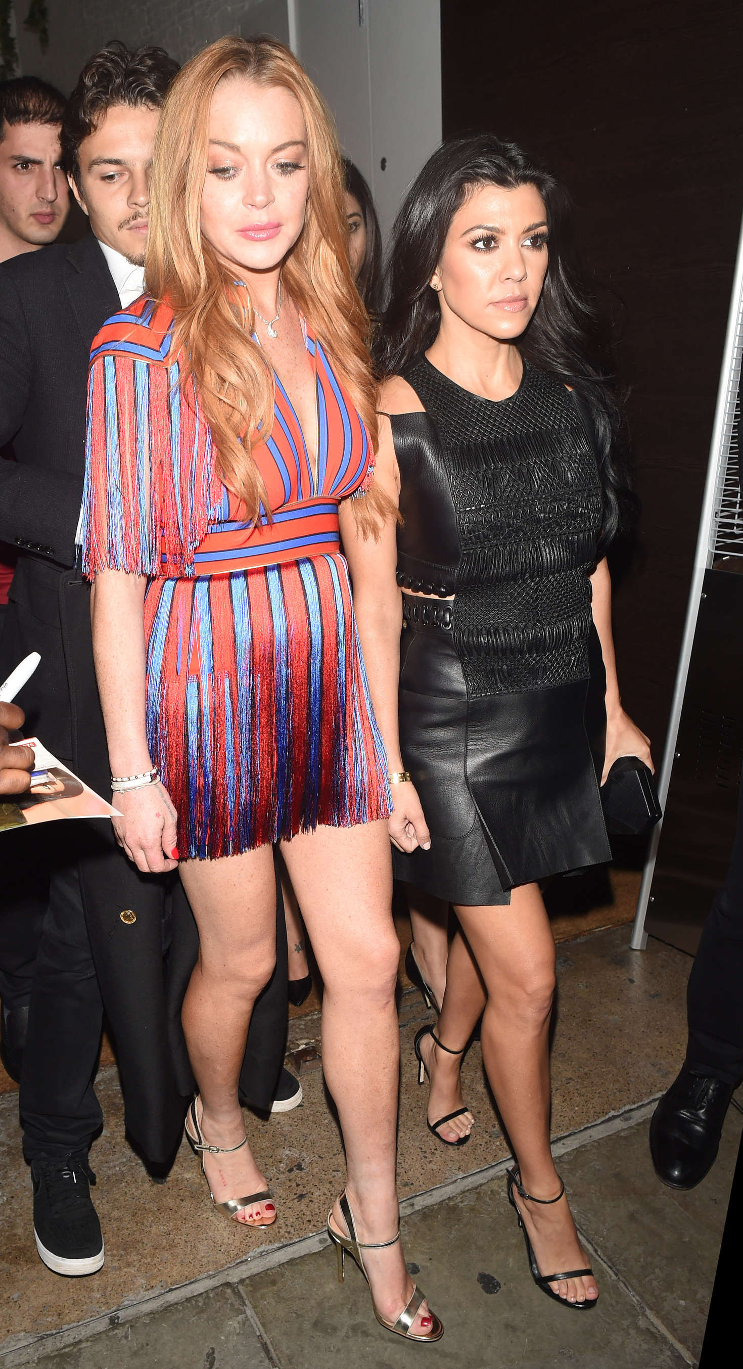 Lindsay Lohan 2016 : Lindsay Lohan and Kourtney Kardashian: Leaving Ours Restaurant -21