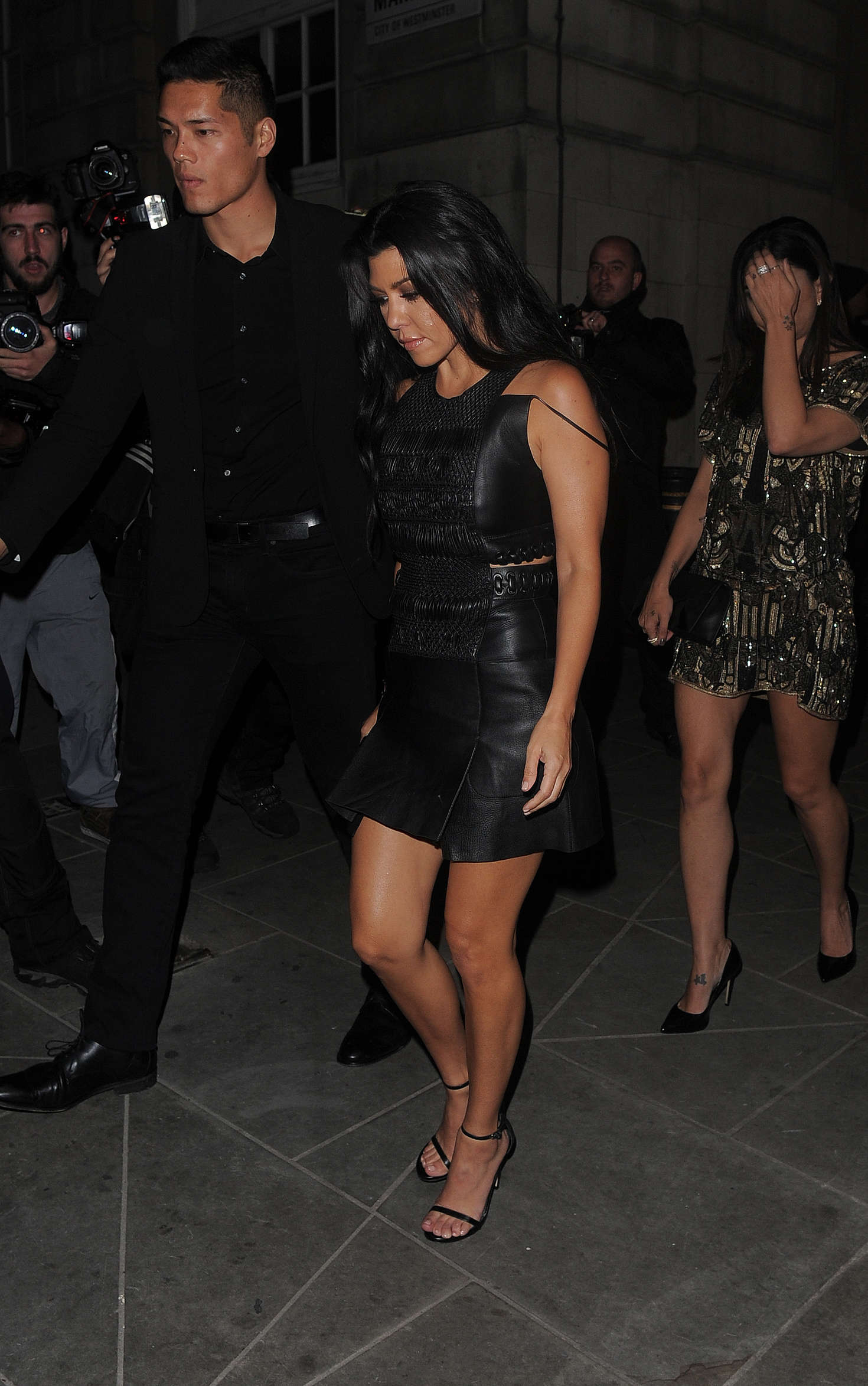Lindsay Lohan 2016 : Lindsay Lohan and Kourtney Kardashian: Leaving Ours Restaurant -24