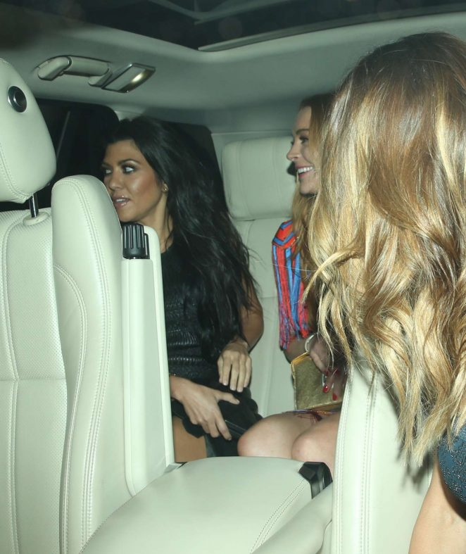 Lindsay Lohan and Kourtney Kardashian: Seen while out in London-25