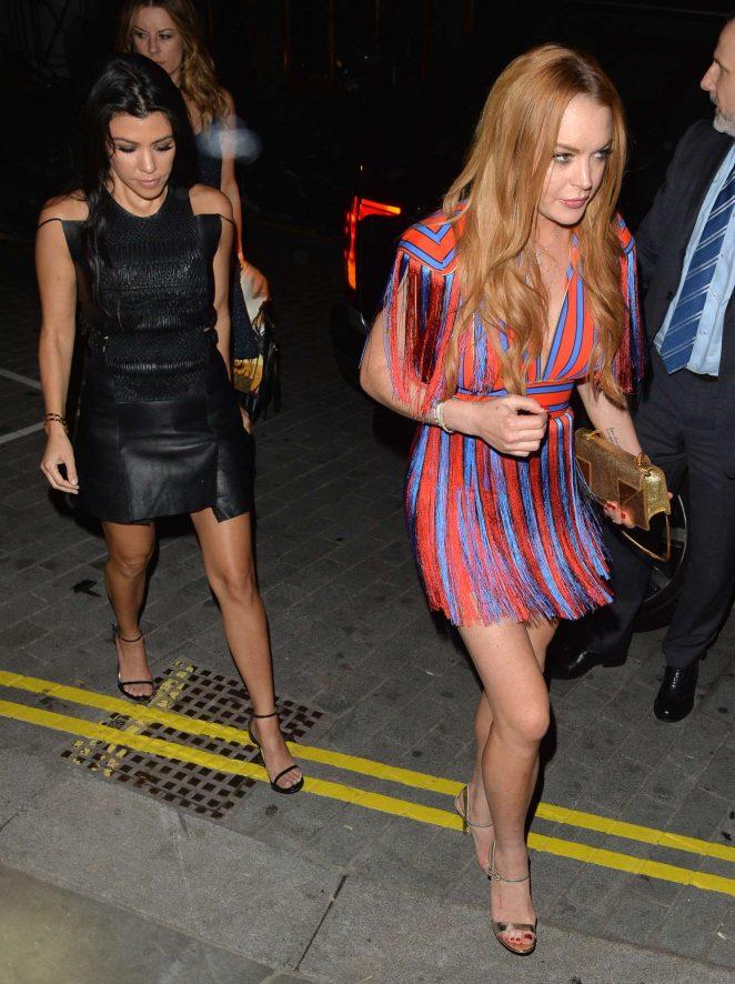 Lindsay Lohan 2016 : Lindsay Lohan and Kourtney Kardashian: Seen while out in London-31