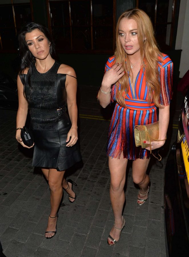 Lindsay Lohan and Kourtney Kardashian: Seen while out in London-53