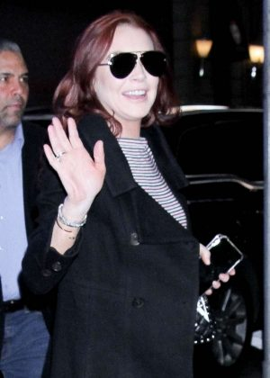 Lindsay Lohan - Arrives at  Good Morning America in New York City