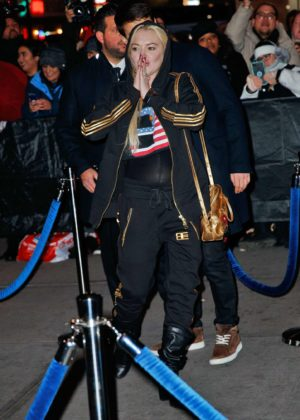 Lindsay Lohan Arriving At Madison Square Garden For The