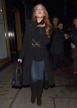Lindsay Lohan - Arriving at MNKY HSE club in London