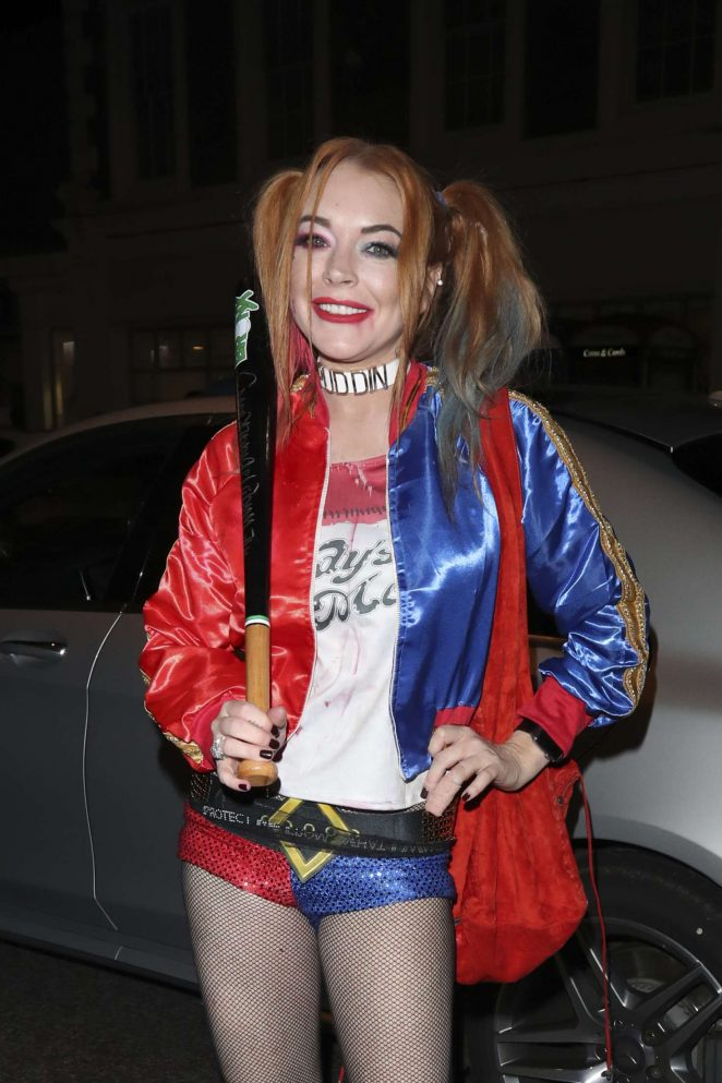 Lindsay Lohan at Albert's club for Halloween in London