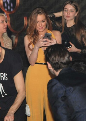 Lindsay Lohan at Club 79 in Paris