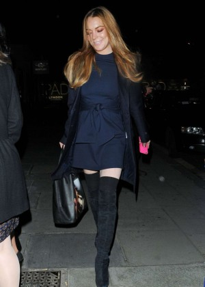 Lindsay Lohan at Hakkasan Restaurant in London