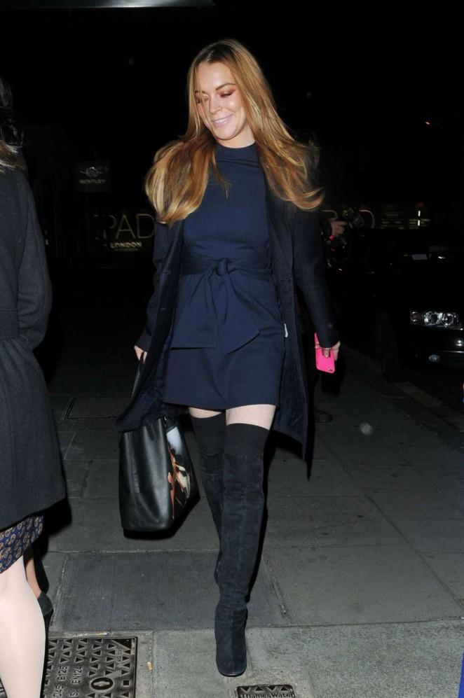 Lindsay Lohan at Hakkasan Restaurant in London