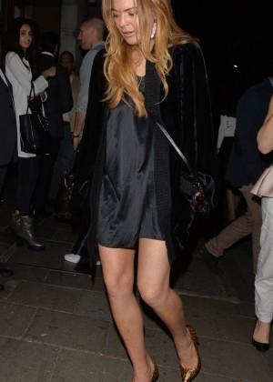 Lindsay Lohan at Novikov Restaurant in London