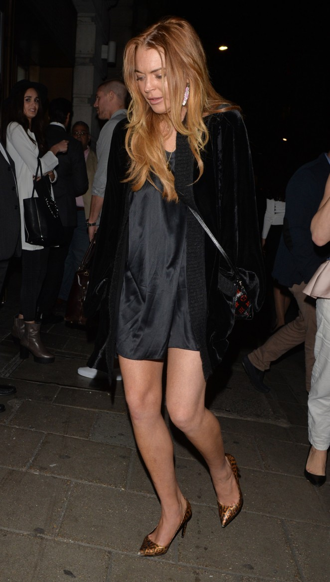 Lindsay Lohan at Novikov Restaurant in London