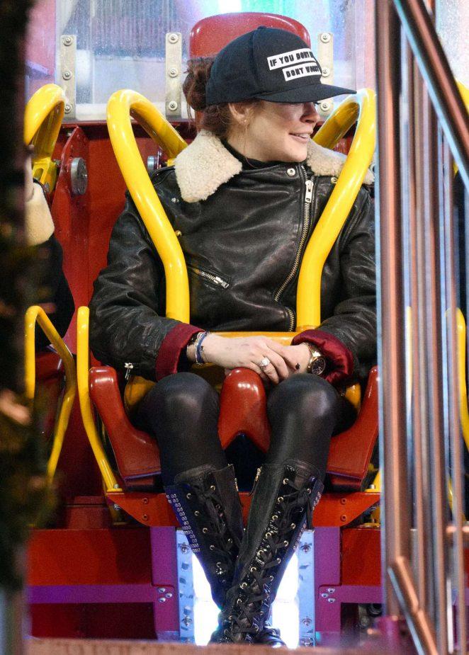 Lindsay Lohan at Winter Wonderland in London