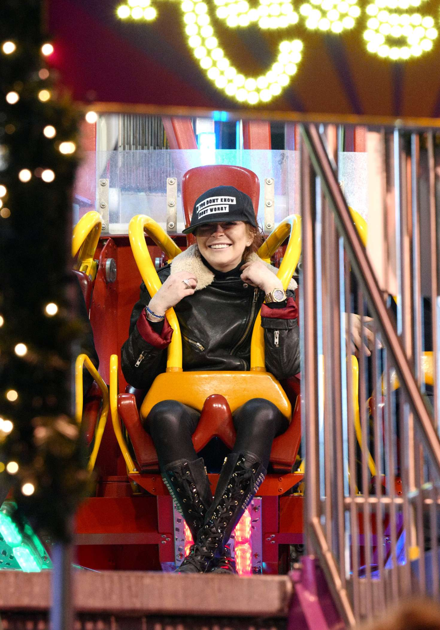 lindsay lohan at winter wonderland in hyde park london 11 20 2016