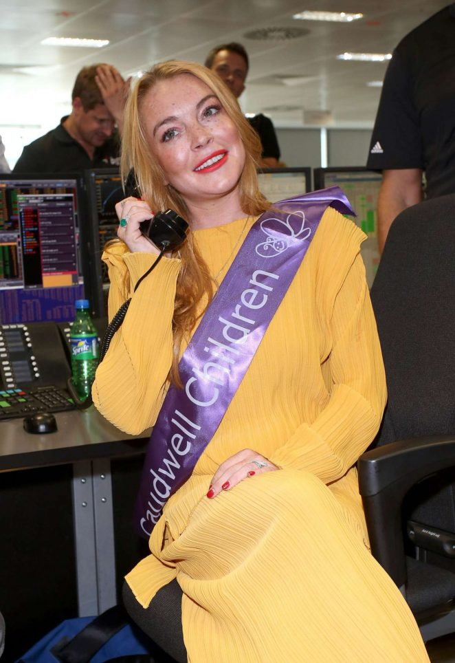 Lindsay Lohan - BGC Annual Global Charity Day at the Canary Wharf in London