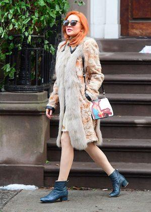 Lindsay Lohan - Celebrates her Grandmother's 94th Birthday in NY