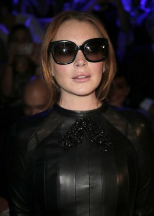 Lindsay Lohan - Custo Barcelona collection, 2017 Mercedes-Benz Fashion Week - Madrid