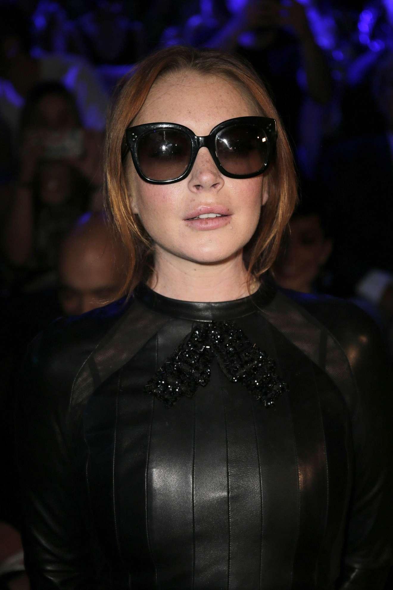 Lindsay Lohan - Custo Barcelona collection, 2017 Mercedes-Benz Fashion Week - Madrid