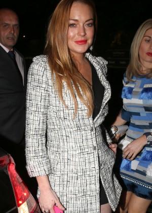 Lindsay Lohan - Damiani VIP Event at Morton's Club in London