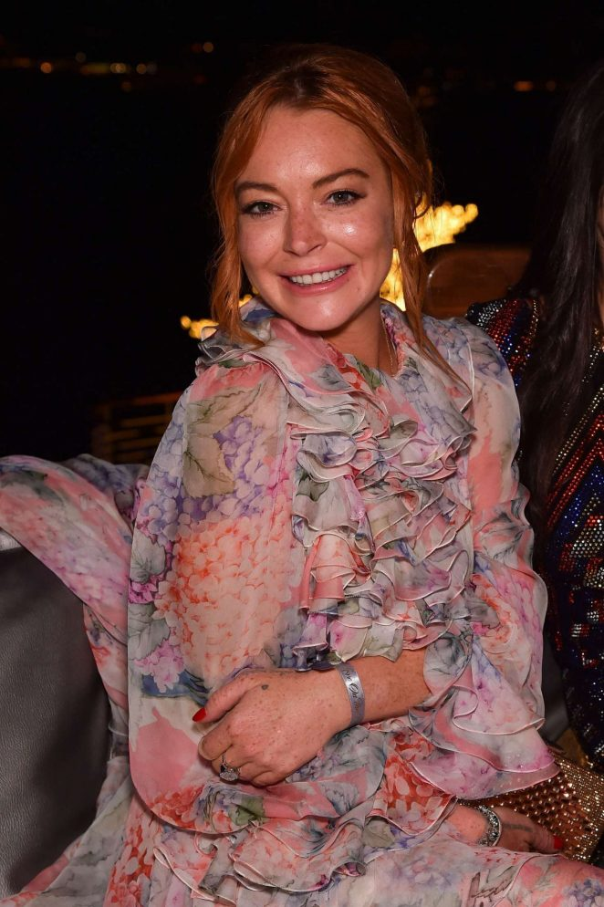 Lindsay Lohan - De Grisogono Party at 70th Cannes Film Festival in France