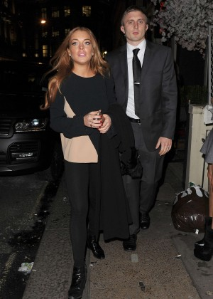 Lindsay Lohan eNight out in Mayfair -06