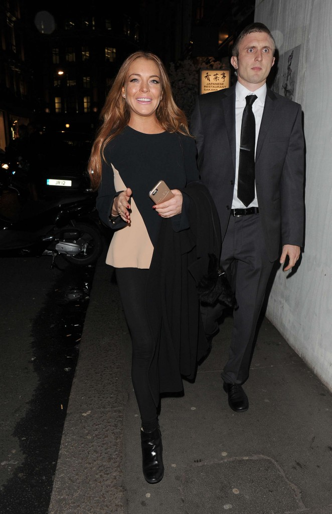 Lindsay Lohan eNight out in Mayfair in London