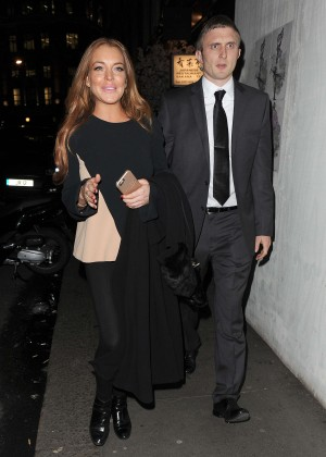 Lindsay Lohan eNight out in Mayfair -13