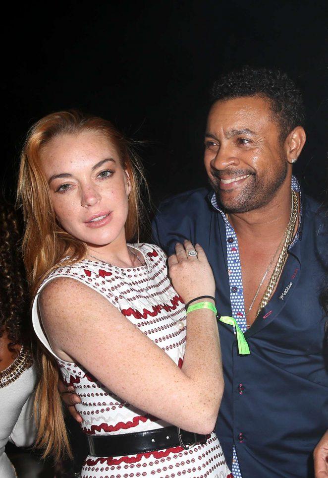 Lindsay Lohan - Fawaz's Folies birthday party in Sardinia