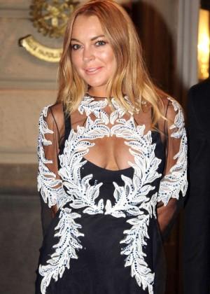 Lindsay Lohan - Francesco Scognamiglio's 40 Birthday Party in Naples
