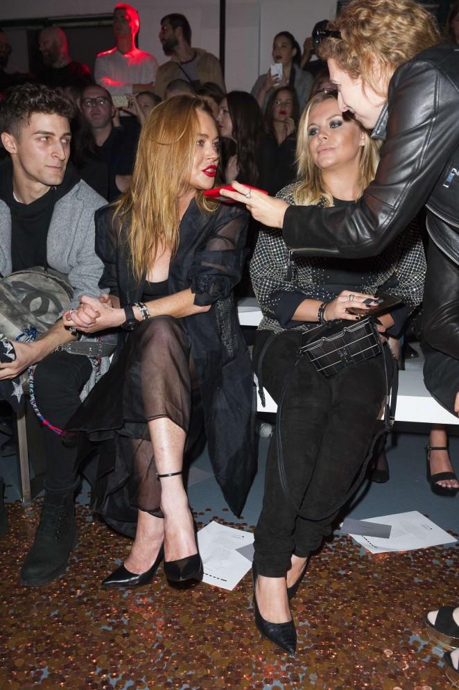 Lindsay Lohan: Gareth Pugh Show at LFW -01