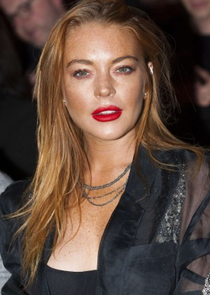 Lindsay Lohan - Gareth Pugh Show at LFW in London