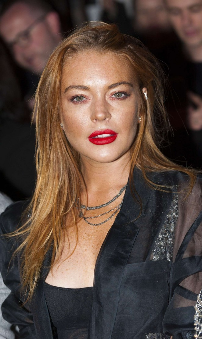 Lindsay Lohan - Gareth Pugh Show at LFW in London