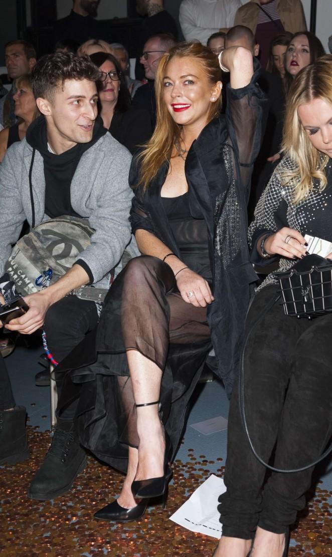 Lindsay Lohan: Gareth Pugh Show at LFW -08