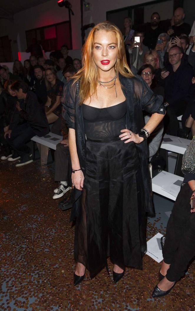 Lindsay Lohan: Gareth Pugh Show at LFW -09