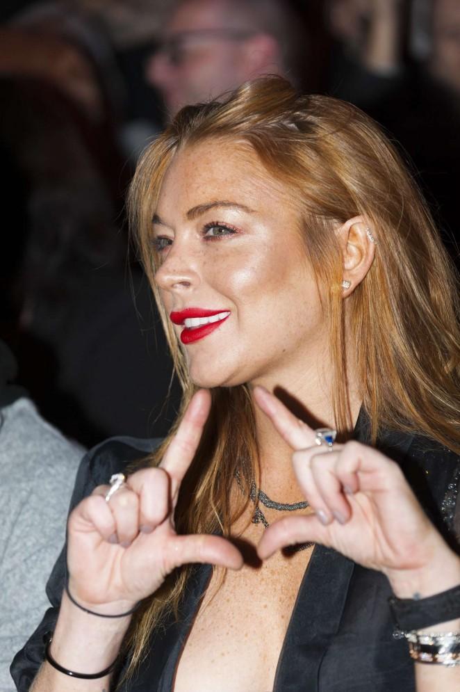 Lindsay Lohan: Gareth Pugh Show at LFW -11