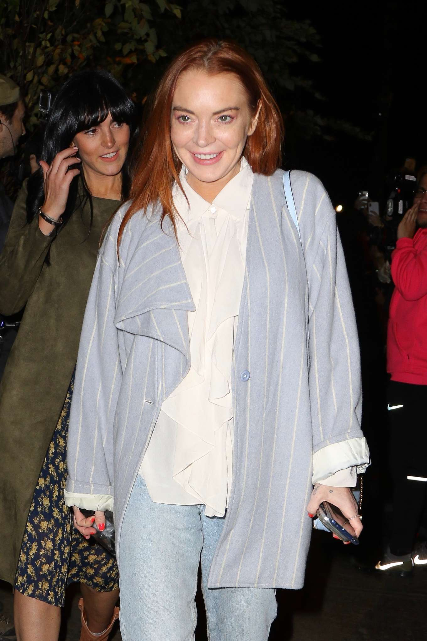 Lindsay Lohan in Jeans - Leaving the Mercer Hotel in New York