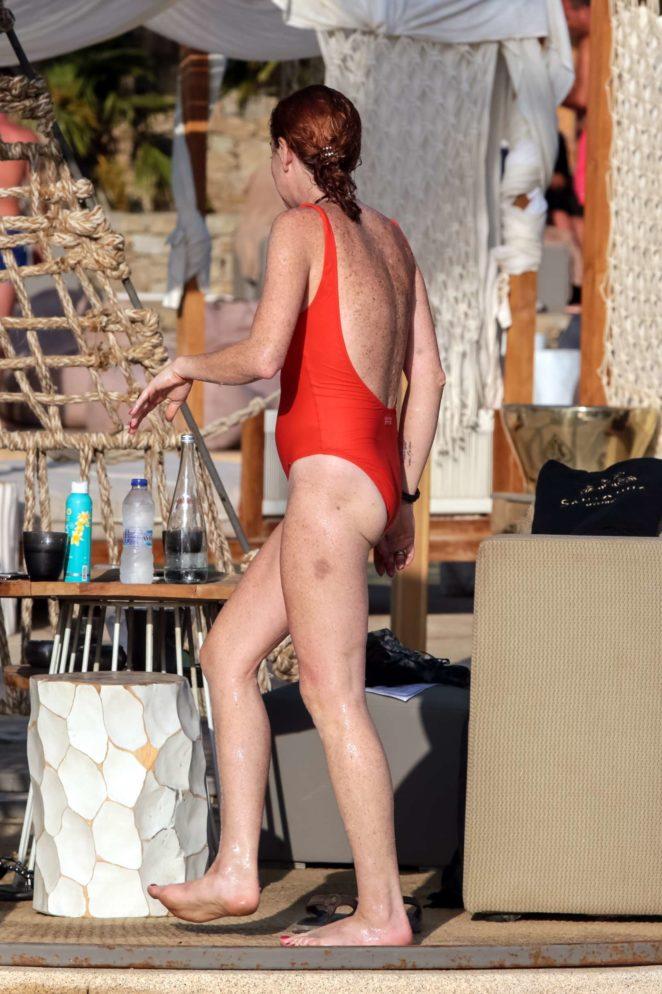 red bikini lohan