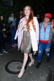 Lindsay Lohan - Leaves the Mercer Hotel in New York