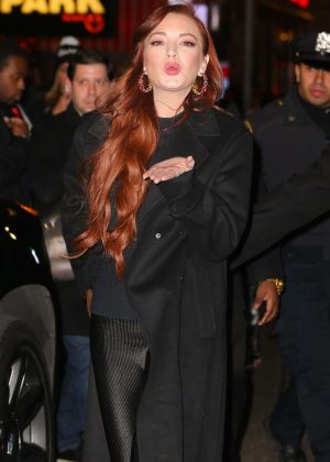 Lindsay Lohan - Leaves the MTV Studios in NYC