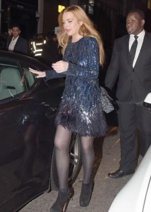 Lindsay Lohan - Leaving Project Nightclub in London