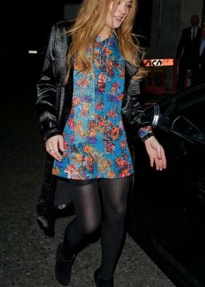 Lindsay Lohan - Leaving Rita Ora's Private Gig in Mayfair