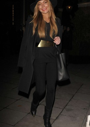 Lindsay Lohan - Leaving the Chanel Exhibition Party in London