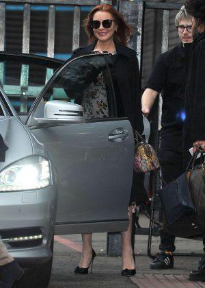 Lindsay Lohan - Leaving the ITV Studios in London